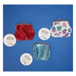 Set of 3 NWT Coin Purses Red, Blue, Multi-Color